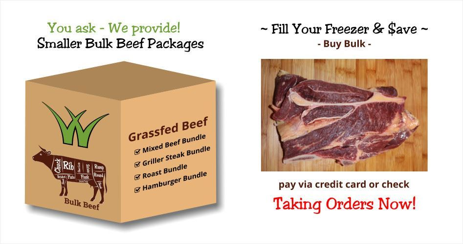 2018 Bulk Beef Orders - Smaller Packages Available